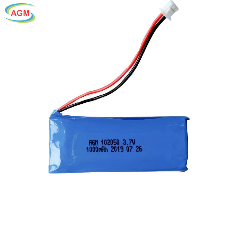102050 3.7V 1000mAh Polymer Li-ion Battery for Hand-held massage stick