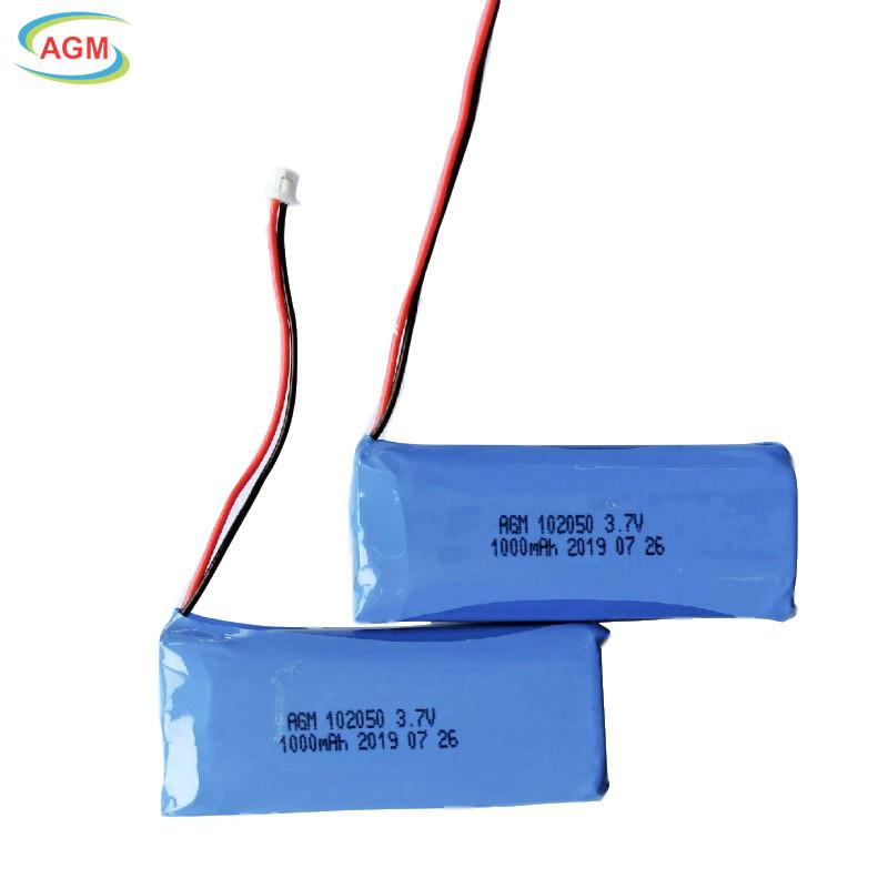 102050 3.7V 1000mAh Polymer Li-ion Battery for Hand-held massage stick