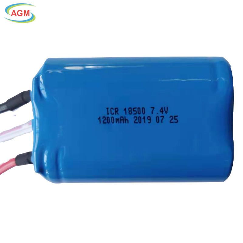 ICR18500 7.4V 1200mAh 2S1P for juicer
