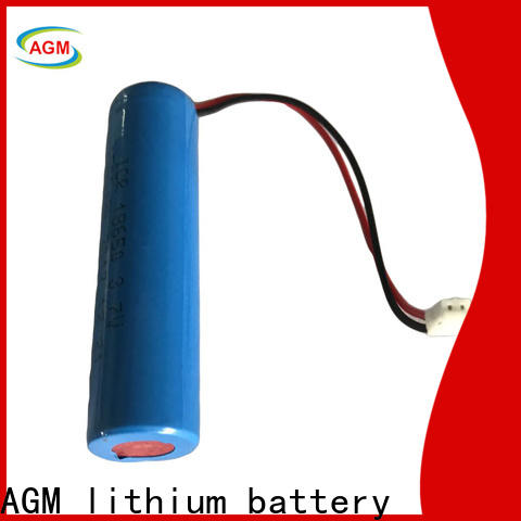 AGM lithium battery latest 18650 rechargeable battery with charger for led lighting