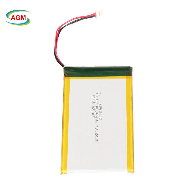High capacity li-po battery 5060100 3.8V 4800mAh 18.24Wh GPS rechargeable lithium ion battery