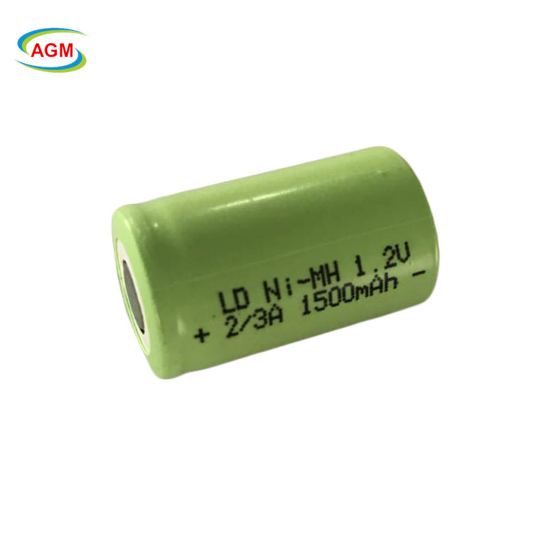 Flat low self discharge 2 3A nimh batteries 1.2V 1500mAh rechargeable ni-mh battery