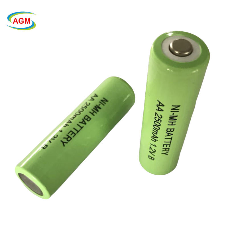 Rechargeable NiMH batteries solar AA 1.2V 2500mAh Ni-MH for power tools, consumer electronicals