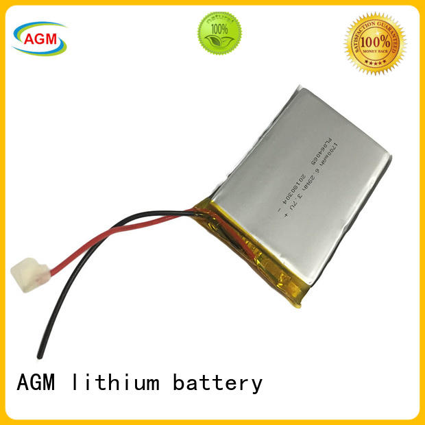 AGM lithium battery rechargeable 3.7 v lipo battery agm for pad