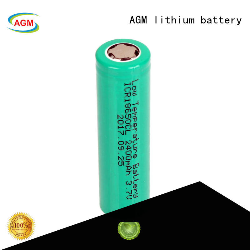 AGM lithium battery low temperature performance lithium 18650 with pcm for sale