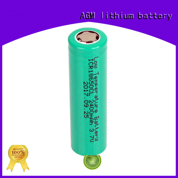 AGM lithium battery low temperature performance 18650 cells with pcm for led lighting