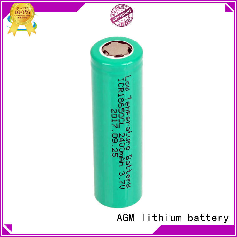 AGM lithium battery 18650 rechargeable battery with charger for sale